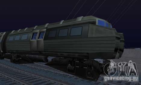 Batman Begins Monorail Train Vagon v1 для GTA San Andreas вид сзади