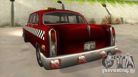 GTA3 Borgnine Cab для GTA San Andreas вид сзади
