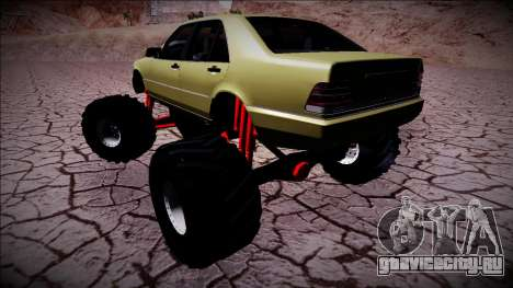 Mercedes-Benz W140 Monster Truck для GTA San Andreas вид справа