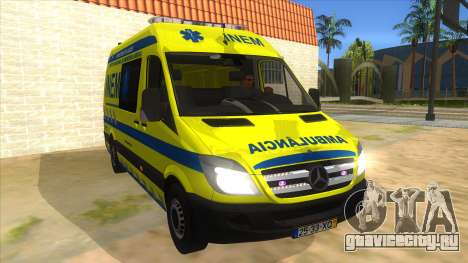 Mercedes-Benz Sprinter INEM Ambulance для GTA San Andreas вид сзади