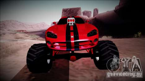 Dodge Viper SRT10 Monster Truck для GTA San Andreas вид сбоку