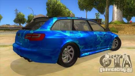 Audi RS6 Blue Star Badgged для GTA San Andreas вид справа