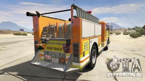 Los Angeles Fire Truck для GTA 5 вид сзади слева
