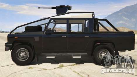 Land Rover 110 Pickup Armoured для GTA 5 вид слева