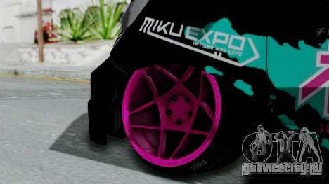 Toyota Vellfire Miku Pocky Exhaust v2 для GTA San Andreas вид сзади слева