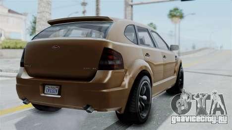 GTA 5 Vapid Radius для GTA San Andreas вид слева