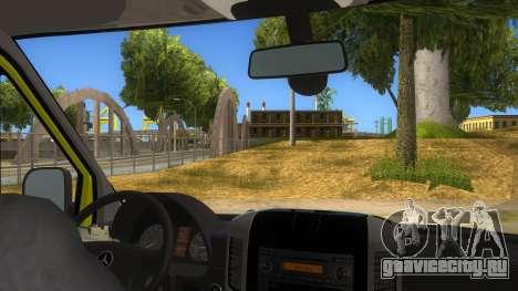Mercedes-Benz Sprinter INEM Ambulance для GTA San Andreas вид изнутри