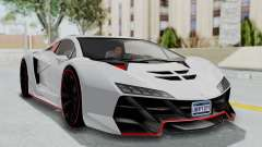 GTA 5 Zentorno Tron для GTA San Andreas