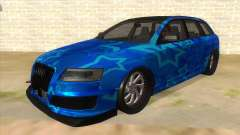Audi RS6 Blue Star Badgged для GTA San Andreas