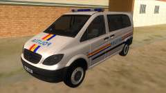 Mercedes Benz Vito Romania Police для GTA San Andreas