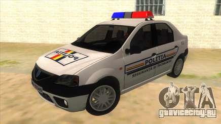 Dacia Logan Romania Police для GTA San Andreas