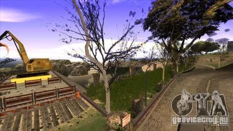 Строительство моста и густой лес для GTA San Andreas восьмой скриншот