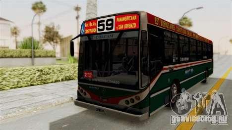 Metalpar Iguazu MB-1718L-SB Linea 59 для GTA San Andreas