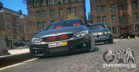 BMW 435i Coupe для GTA 4 вид слева