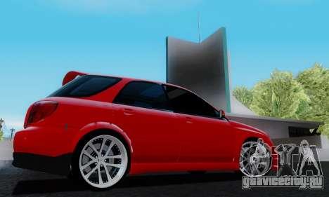 Subaru Impreza WRX STi Wagon Fox 2007 для GTA San Andreas вид справа