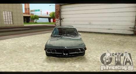 BMW 3.0 CSL для GTA San Andreas вид изнутри