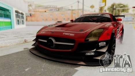 Mercedes-Benz SLS AMG GT3 PJ1 для GTA San Andreas вид снизу