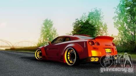 Nissan GTR-R35 Liberty Walk LB performance для GTA San Andreas вид слева