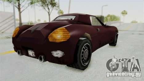 GTA 3 Stinger для GTA San Andreas вид слева