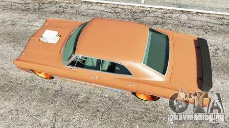 Chevrolet Impala 1967 для GTA 5 вид сзади