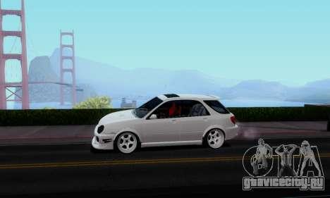 Subaru Impreza WRX STi Wagon Stens для GTA San Andreas вид сзади слева