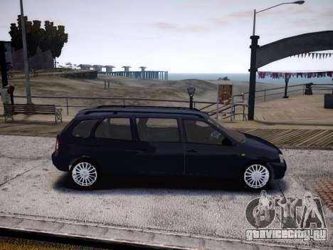 ВАЗ 1117 Калина 7-door для GTA 4 вид сзади