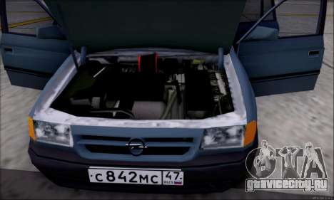 Opel Astra для GTA San Andreas салон