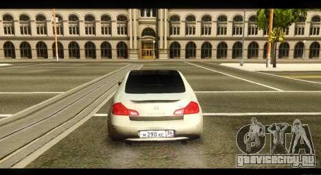 Infiniti G37 для GTA San Andreas вид справа