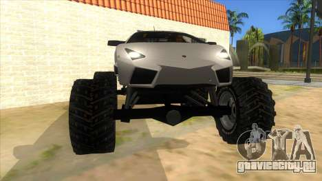 Lamborghini Reventon Monster Truck для GTA San Andreas вид сзади
