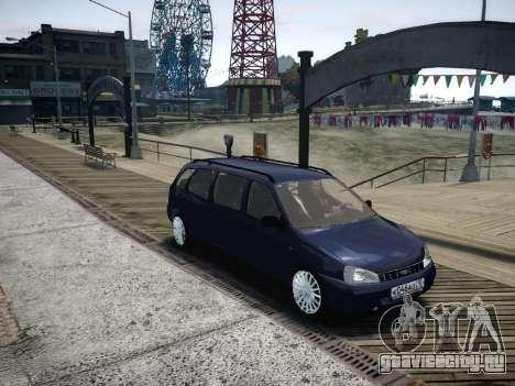 ВАЗ 1117 Калина 7-door для GTA 4 вид изнутри
