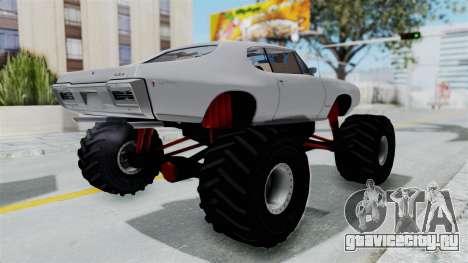 Pontiac GTO 1968 Monster Truck для GTA San Andreas вид справа