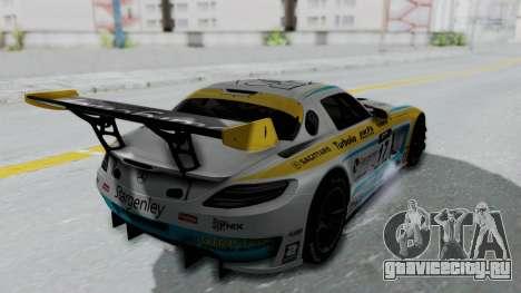 Mercedes-Benz SLS AMG GT3 PJ5 для GTA San Andreas вид изнутри