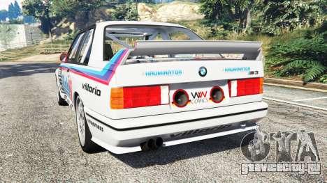 BMW M3 (E30) 1991 v1.3 для GTA 5 вид сзади слева