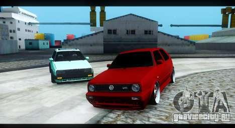 Volkswagen Jetta Mk2 для GTA San Andreas вид сзади слева
