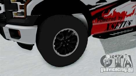Ford F-150 Raptor 2015 для GTA San Andreas вид сзади