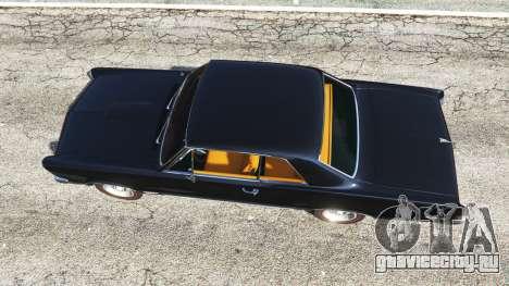 Pontiac Tempest Le Mans GTO 1965 для GTA 5 вид сзади