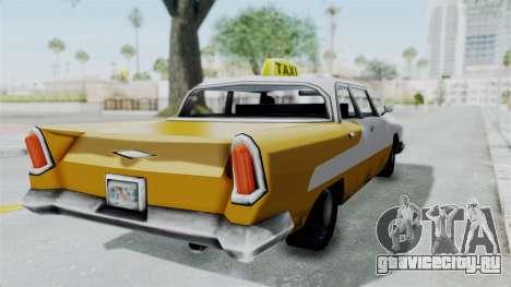 GTA VC Oceanic Taxi для GTA San Andreas вид сзади слева