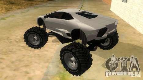 Lamborghini Reventon Monster Truck для GTA San Andreas вид сзади слева