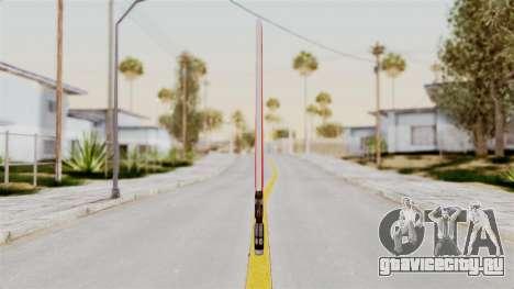 Star Wars LightSaber Red для GTA San Andreas второй скриншот
