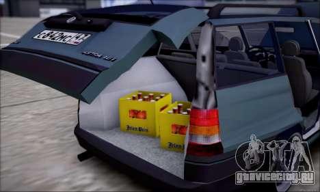 Opel Astra для GTA San Andreas вид снизу