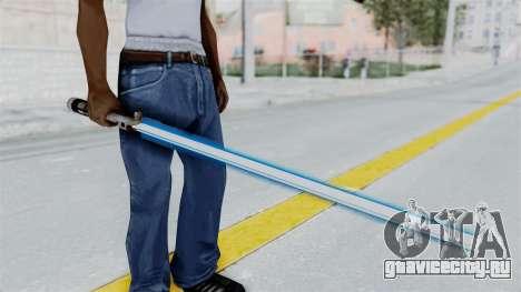 Star Wars LightSaber Blue для GTA San Andreas третий скриншот