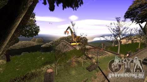 Строительство моста и густой лес для GTA San Andreas второй скриншот