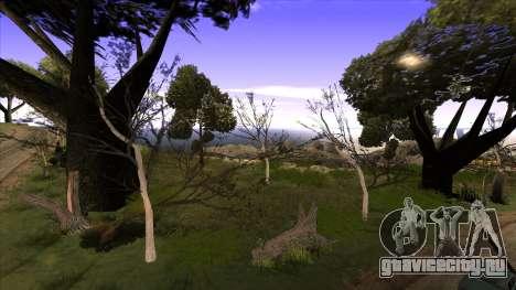 Строительство моста и густой лес для GTA San Andreas третий скриншот