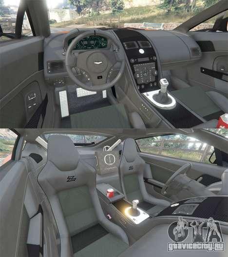 Aston Martin V12 Zagato v1.2 для GTA 5 вид сзади справа