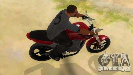 Honda Twister Stunt для GTA San Andreas вид изнутри