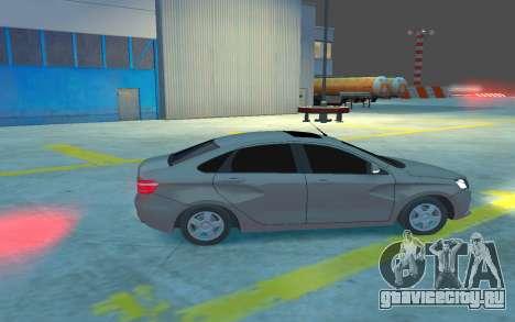 Lada Vesta для GTA 4 вид сзади