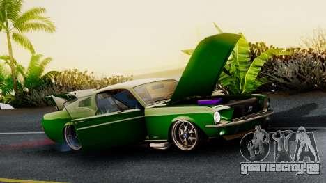 Ford Mustang Fast_back для GTA San Andreas вид сзади слева