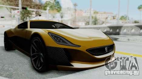 Rimac Concept One для GTA San Andreas вид справа
