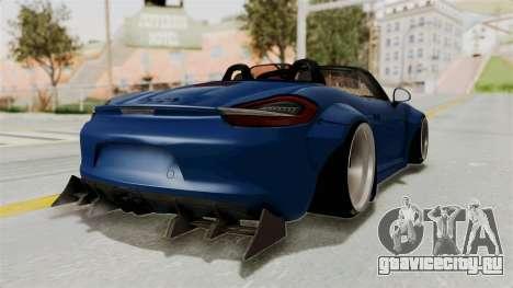 Porsche Boxster Liberty Walk для GTA San Andreas вид сзади слева