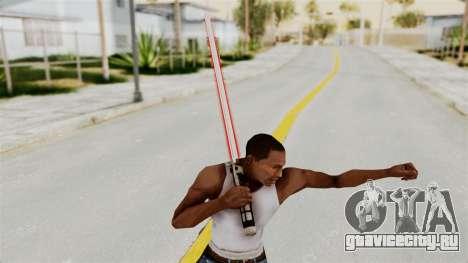 Star Wars LightSaber Red для GTA San Andreas третий скриншот